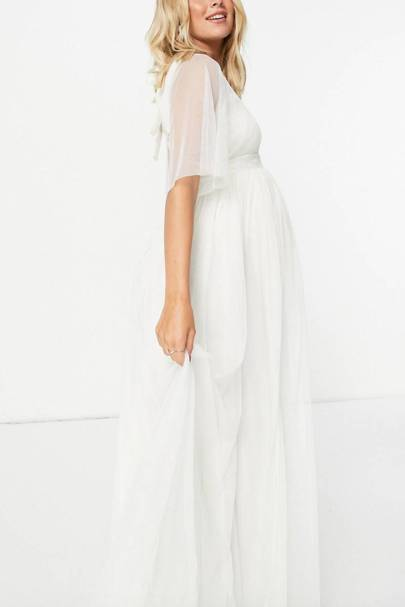 Best White Bridesmaid Dresses - Maternity
