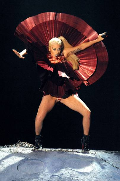 Lady Gaga performs at the MTV EMAs 2011