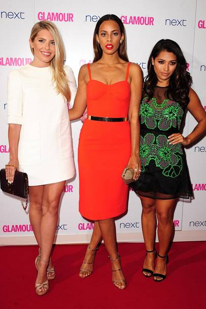 Mollie King, Rochelle Humes and Vanessa White