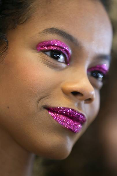 5f954afd51db Rodarte AW19 Makeup  A Ruby Red Glitter Affair