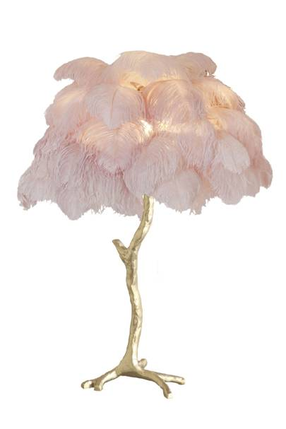 Dynasty Dining Feather Lamp: