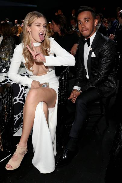 Gigi Hadid and Lewis Hamilton
