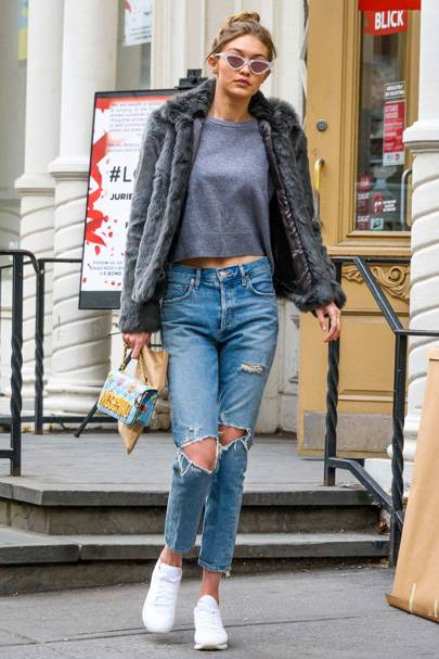 bf1d78efd9 Celebrities Ripped Jeans Fashion 2017 (Glamour.com UK) | Glamour UK