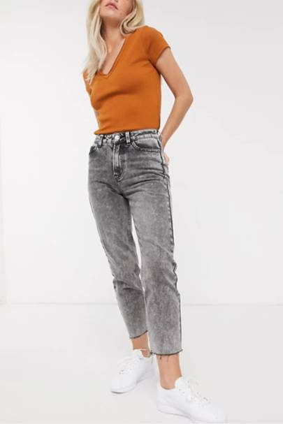 Best petite washed jeans