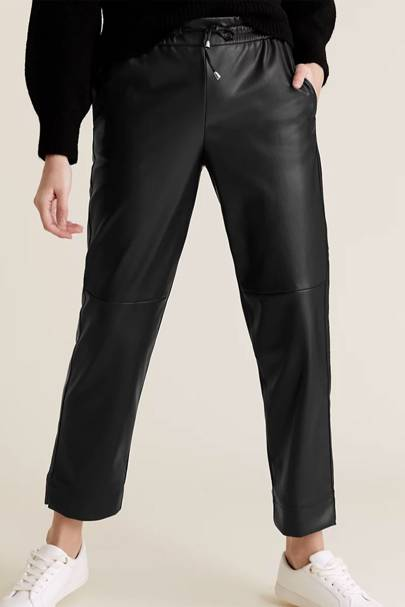 Best joggers: Faux Leather