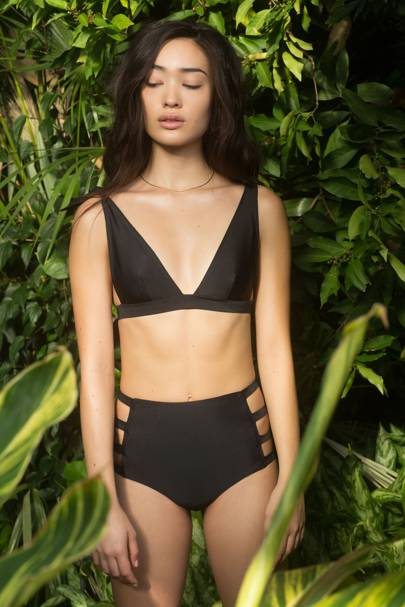 Mica Top and Rianne Bottom in Black by Daughters of Summer