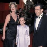 Dakota Johnson (with Melanie Griffith and Antonio Banderas) - 2000
