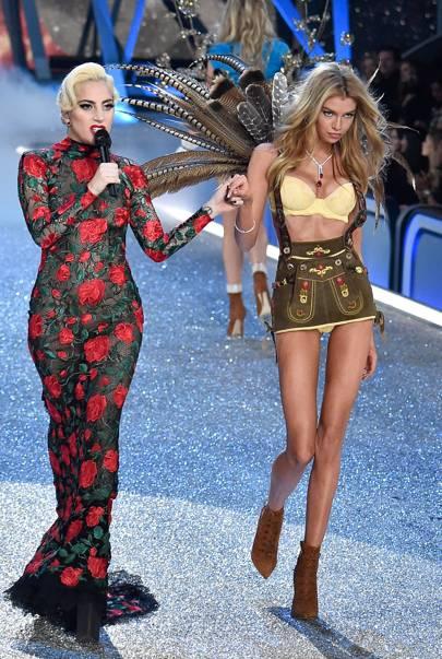 Lady Gaga and Stella Maxwell