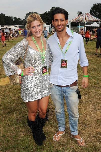 Cheska Hull & Ollie Locke in the Virgin Media Louder Lounge 2012