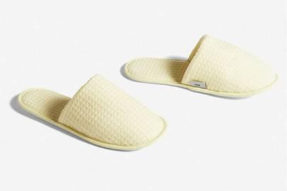 Best women's slippers UK: spa waffle slippers