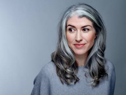 Woman reveals why she let her hair go grey in her thirties glamour uk advertisement solutioingenieria Image collections