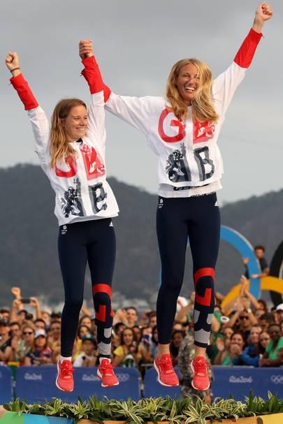 Hannah Mills & Saskia Clarke