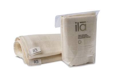 18th June: Organic Cotton Muslin Cleansing Cloths (Pack of 2), £12