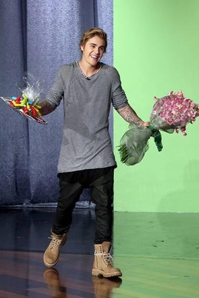 Justin Bieber 2015 Hairstyle Ellen