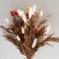 Dried pampas grass bouquet