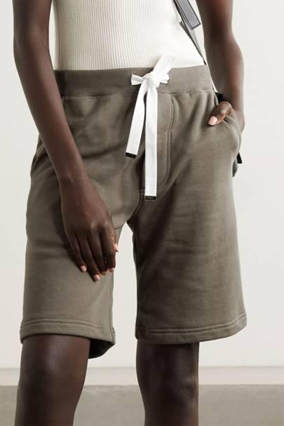 Longline sweat shorts