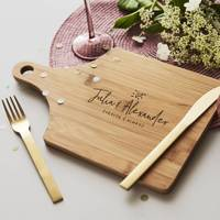 Unusual Personalised Gifts For Her: the personalised chopping board
