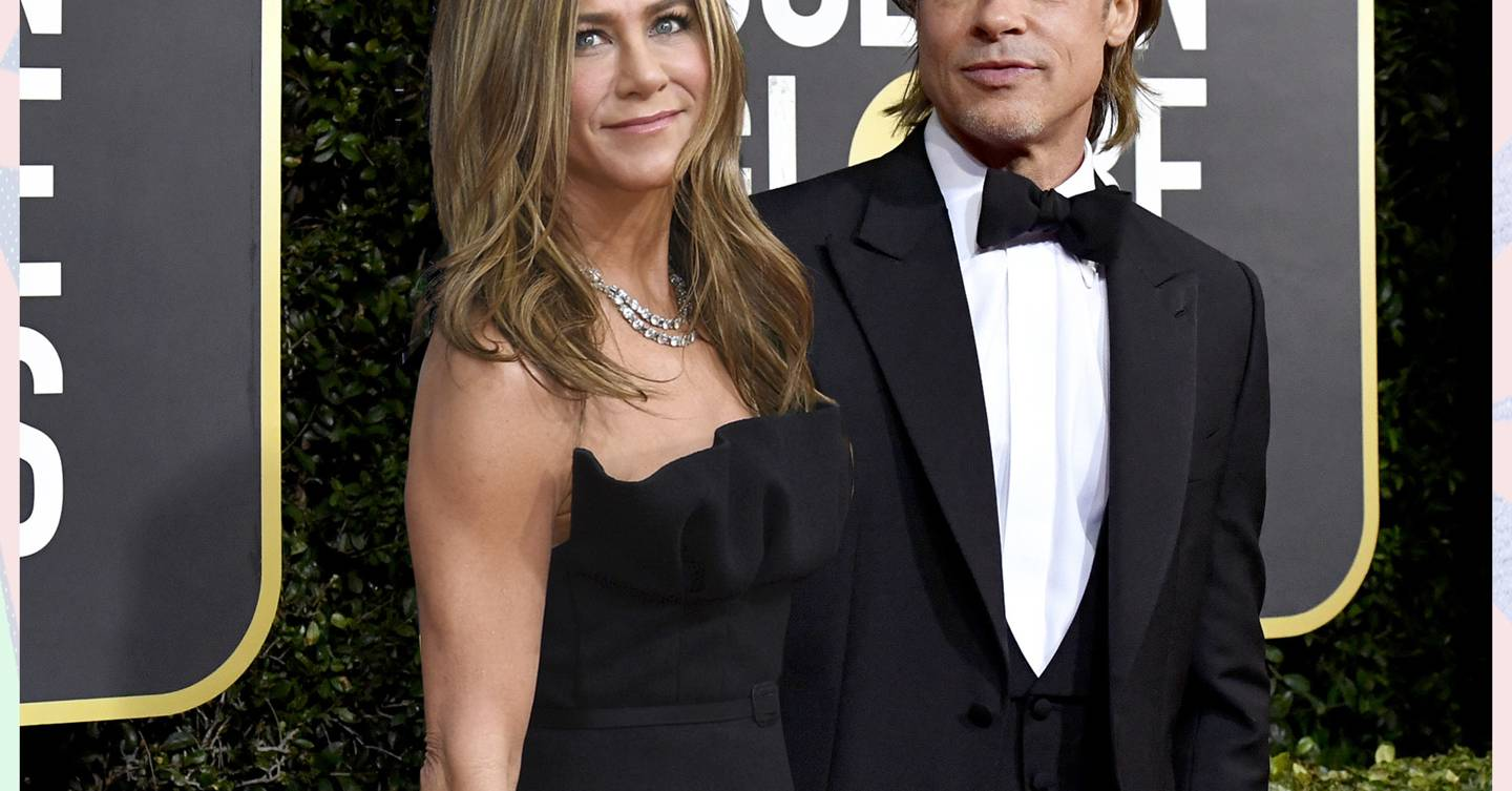 The Golden Globes just gave us the Brad and Jen reunion we've been waiting SO long for