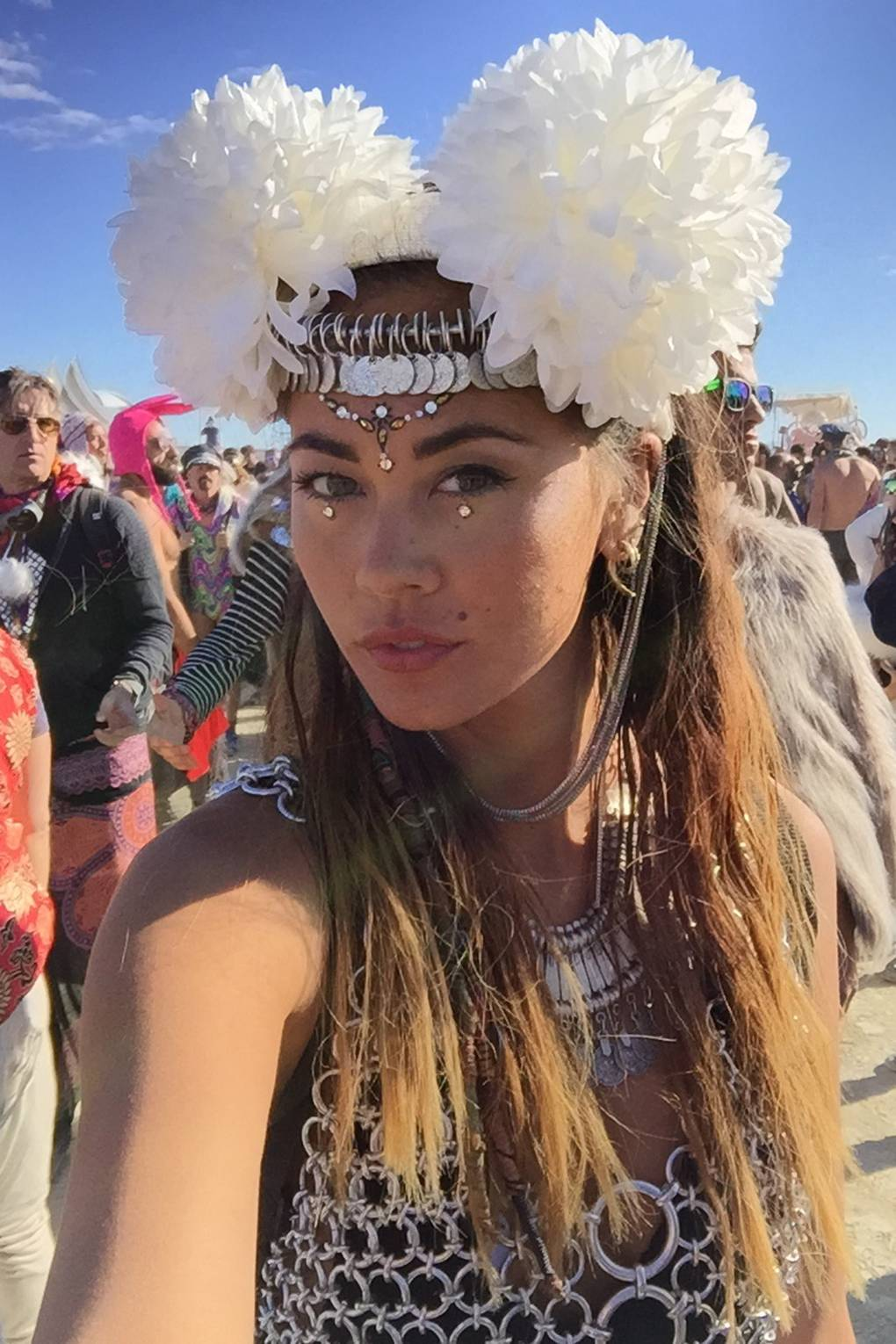 Burning Man Festival Glitter Face Make Up In Your Dreams Glamour Uk