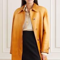 Leather coats: the colour-pop coat