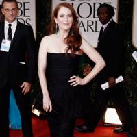 Julianne Moore at the Golden Globes 2012