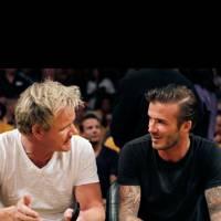 David Beckham & Gordon Ramsay