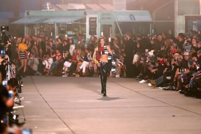 Gigi Hadid opening the show