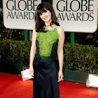 Zooey Deschanel at the Golden Globes 2012