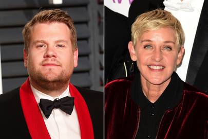 Ellen DeGeneres, comedian and TV star, by James Corden, comedian, presenter and writer