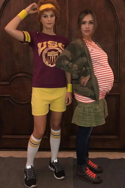 Jessica Alba & Kelly Sawyer
