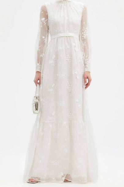 LONG-SLEEVED WEDDING DRESS: EMBROIDERED