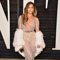 Jennifer Lopez in a sheer gown