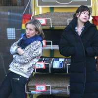 Dakota Johnson and Sam Taylor-Johnson in Fifty Shades Of Grey