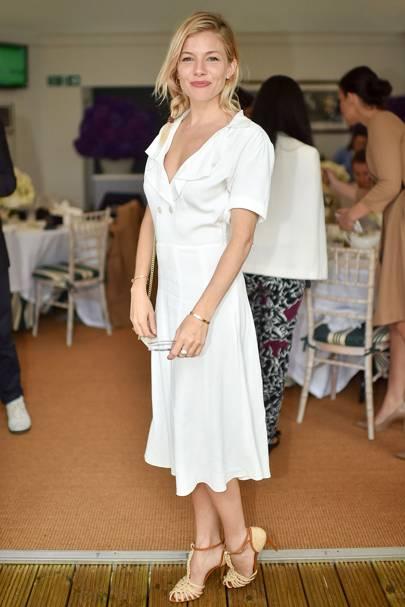 Sienna Miller at Wimbledon 2016