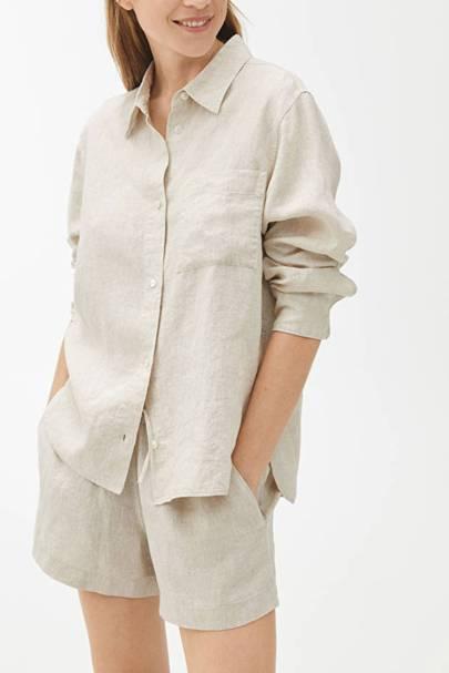 Best loungewear: the linen shirt