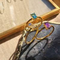 Unique Gemstone Baguette Cut Rings by Venu J