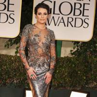Lea Michele at the Golden Globes 2012