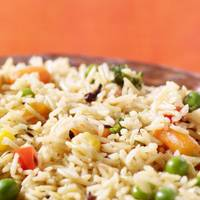 Brown Rice and Peas