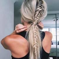Braids in ponytails