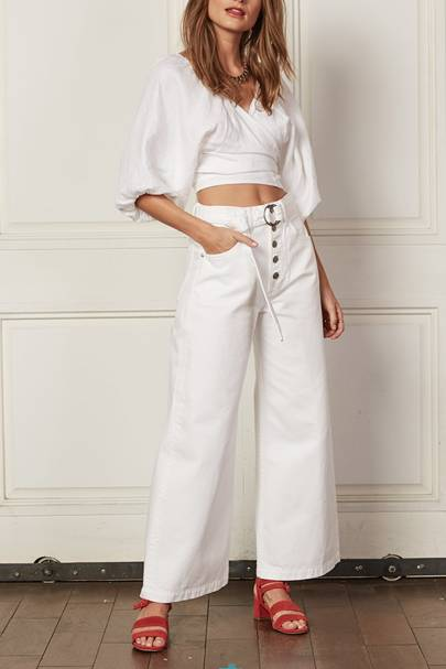0adbf2c2f178 Best White Jeans 2019: Cropped, Flared, High-Waisted & Drawstring ...