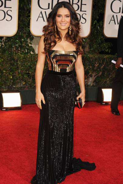 Salma Hayek at the Golden Globes 2012