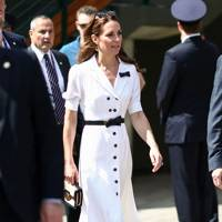 909eb2200002d The Duchess of Cambridge looked summertime chic wearing Suzannah while  attending the second day of Wimbledon.