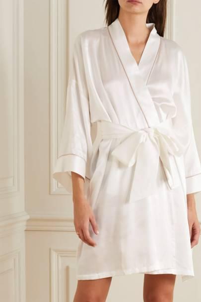 Bridal robes: the silk-satin robe