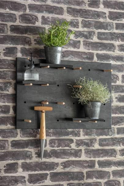 The garden peg board