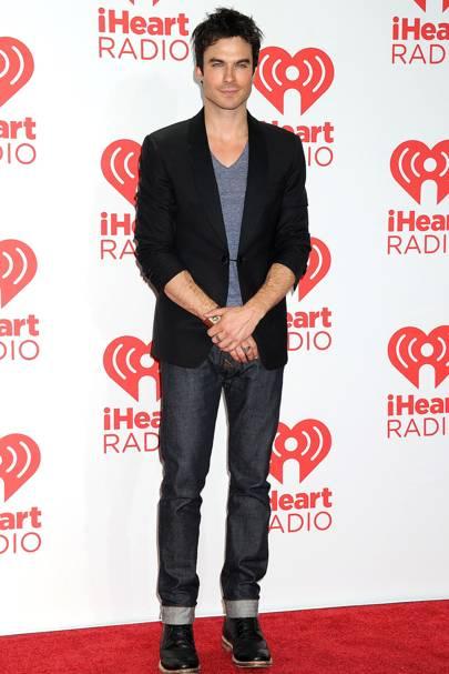 Ian Somerhalder at the iHeartRadio Music Festival