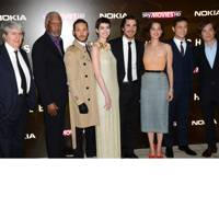 The cast of The Dark Knight Rises at the London premiere