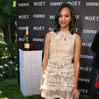 DO #2: Zoe Saldana in Valentino at a Hollywood lunch, March