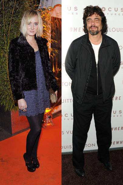 Kimberly Stewart and Benicio del Toro