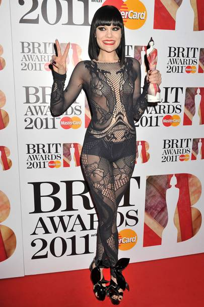 f7ee95f63466b Providing a masterclass in catsuit-wearing at the Brit Awards 2011 launch  the same month. SEE JESSIE J s first ever GLAMOUR cover!