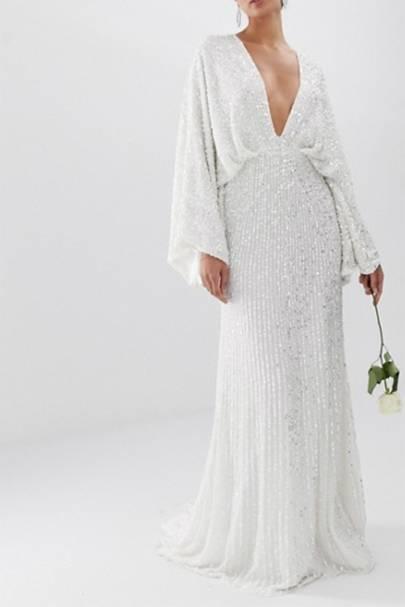 Long sleeve wedding dresses: ASOS